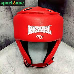 Шлем боксерский защитный Reyvel винил М (52-56 см) красный