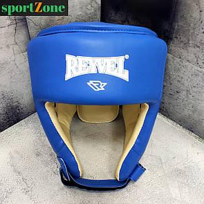Шлем боксерский защитный Reyvel винил L (56-60 см) синий