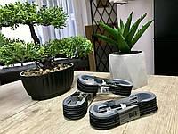 Плетёный, тканевый кабель V8, канат, шнур Micro USB 1.5 метра, Чёрный