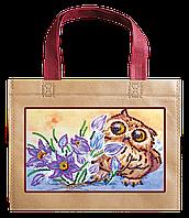 Набор-сумка для вышивания бисером. Сова и крокусы ACA-003