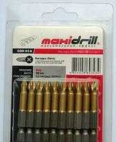 Насадка бита крестовая 500-024 PH3х50мм 1/4 S2 титан (10шт) Maxi Drill
