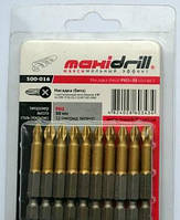 Насадка бита крест 500-015 PH2х25мм 1/4 S2 титан (10шт) Maxi Drill