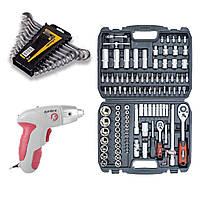 Набор инструментов 3в1 (набор инструментов 108 ед+набор ключей 12 ед+аккумуляторная отвертка DT-0301 )