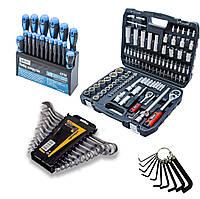Набор инструментов 3в1 ( набор на 108 ед+набор ключей 12 ед на полотне +набор отверток 18 ед )