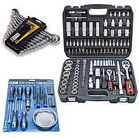 Набор инструментов 4в1 (набор инструментов 108 ед+набор отверток и бит 24 ед+набор ключей 12 ед+магнит )