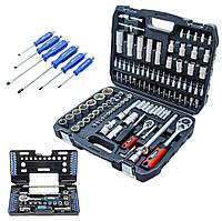 Набор инструментов 5в1 (набор инструментов 108 ед+набор отверток 6 ед+набор инструмента 57 ед+магнит+шестигр )