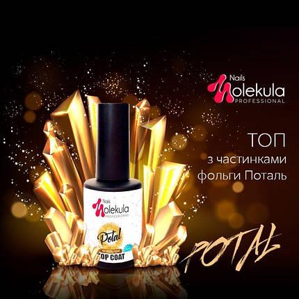TOP POTAL Gold no sticky (счастичками фольги БЕЗ ЛИПКОГО ШАРУ), 12 мл, фото 2