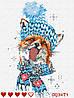 Картина за номерами Лисиця + ЛАК , ТМ Барви, 40*30 см,без коробки