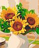 Картина по номерам Подсолнухи в вазе, 40*50 см, без коробки RB