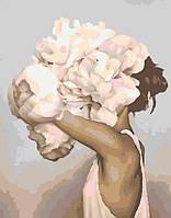 Картина по номерам Девушка с пионами в стиле Эми Джадд, 40*50 см, без коробки RB