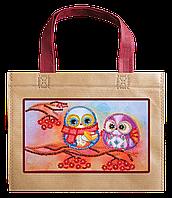 Набор-сумка для вышивания бисером Совы и рябина ACA-005