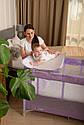 Детский манеж манеж-кровать фиолетовый Carrello Molto с двойным дном пеленальным столиком сумкой колесами, фото 10