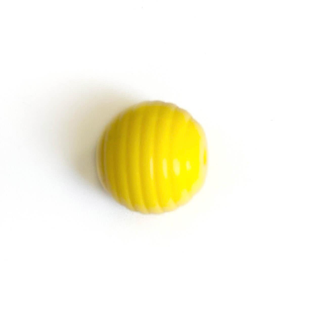 Волнистая 15мм (желтый) круглая, силиконовая бусина