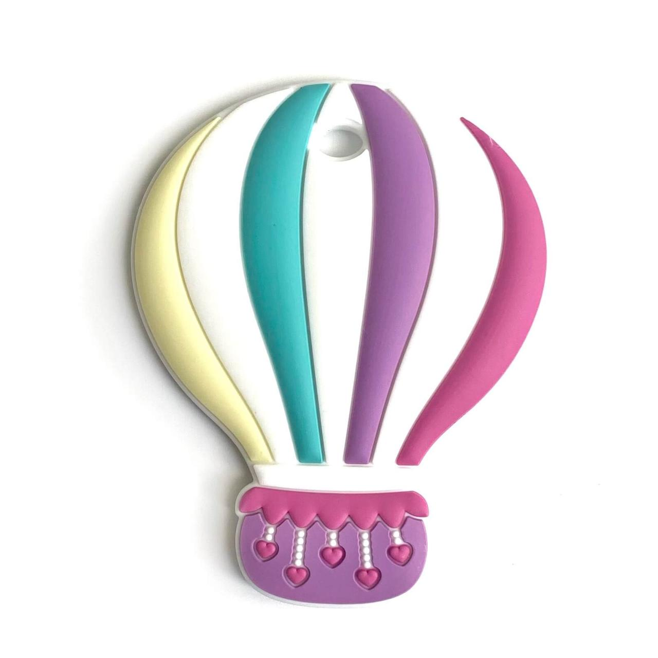 Воздушный шар ГРЫЗУНОК (сирень), силиконовый прорезыватель для зубов