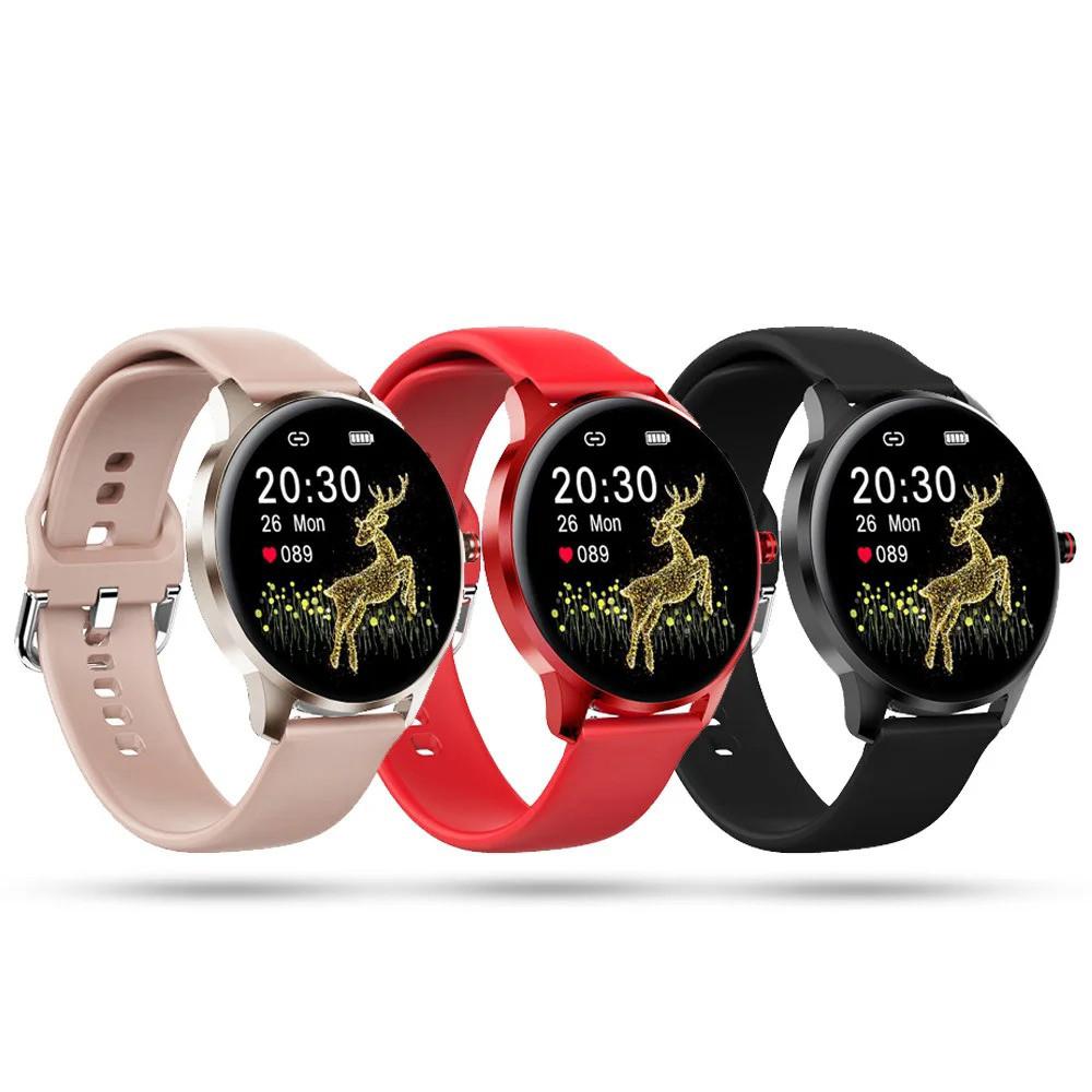 Фітнес браслет трекер Smart Watch LW29 Розумні круглі смарт годинник з тонометром, пульсометром, Крокомір 44мм