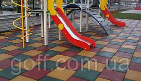 Резиновая плитка для игровых площадок