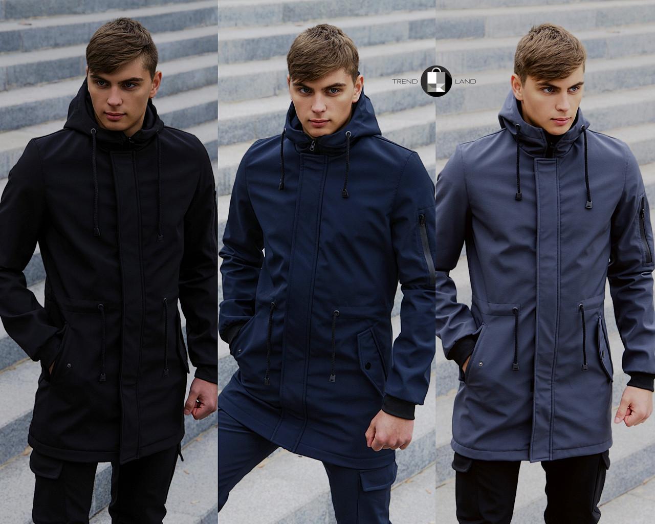 Размеры S-2XL   Мужская куртка Intruder Softshell V2.0