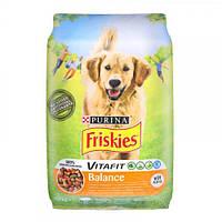 Сухой корм Purina Friskies Balance для собак, с курицей и овощами, 10 кг