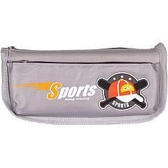 """Пенал-косметичка """"Sport CAP"""" Color-it 68020 21 см (Серый)"""