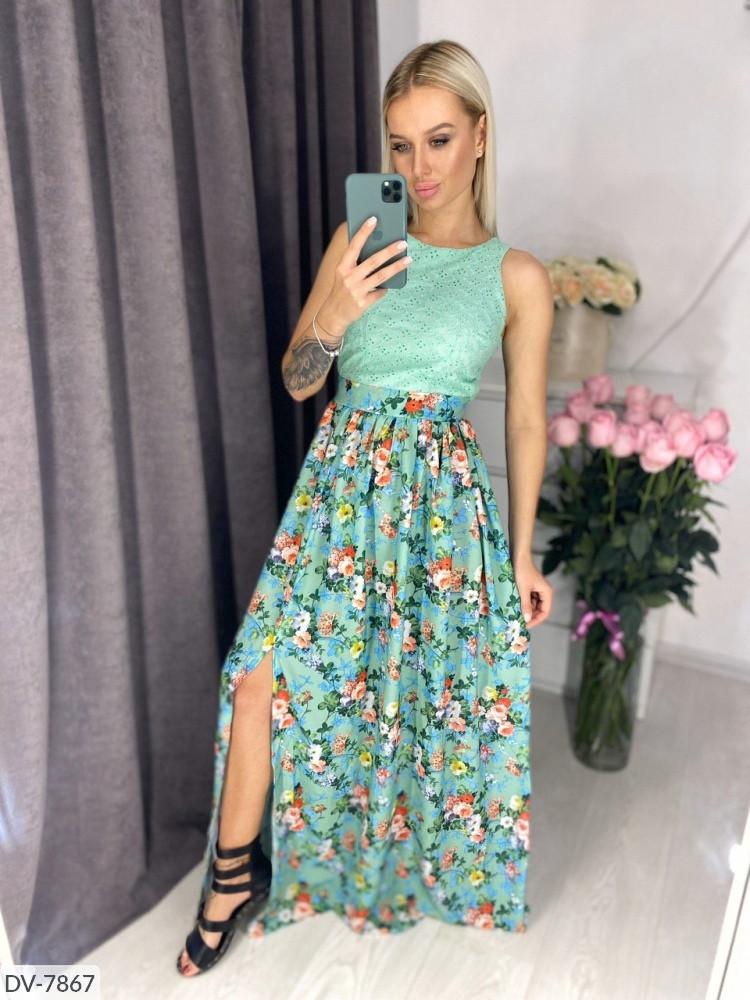 Сукня з спідницею квіткової