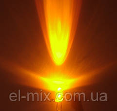 Светодиод  d5мм желтый прозрачный DRP- 0.06wF5roundyellow 1,5-2,0Cd