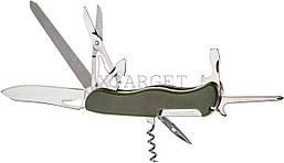 Нож PARTNER HH042014110 на 10 инстр. оливковый