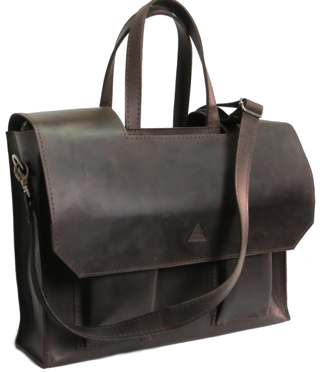 ed8591fe3ed2 Мужская кожаная сумка - портфель Agruz 72995 коричневый — только ...