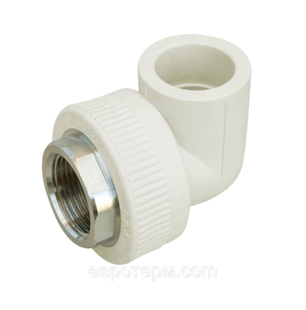 Колено (угол) ППР под ключ с внутренней резьбой 40 х 1 1/4 для полипропиленовых труб Evci Plastik