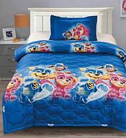 Хлопковое детское покрывало-летнее одеяло на полуторную кровать Щенячий Патруль 160*210
