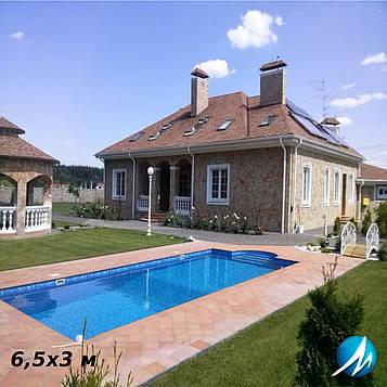 Стекловолоконный бассейн под ключ 6,5х3 м
