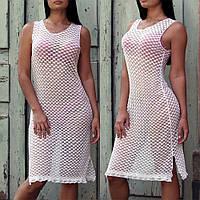 Пляжне плаття біле мереживне