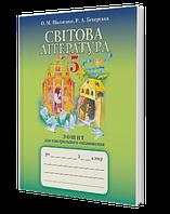 Грамота Робочий зошит Світова література 5 клас Для контрольного оцінювання Ніколенко