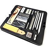 Профессиональный набор графитных карандашей 50 предметов для скетчинга и рисования Скетч карандаши для графики, фото 10