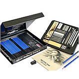 Профессиональный набор графитных карандашей 50 предметов для скетчинга и рисования Скетч карандаши для графики, фото 5