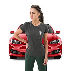 Женская футболка Тесла