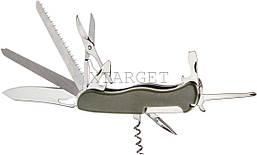 Нож PARTNER HH052014110 на 11 инстр. оливковый