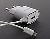 Зарядное устройство ( блок питания, адаптер ) Aspor A802 (1USB/1A) LED + USB кабель Lightning для Apple Xiaomi