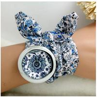 Часы для женщин цветочный шифон 4