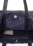 Темно-синяя кожаная сумка Angel, фото 4