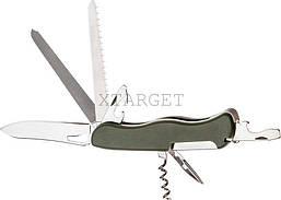 Нож PARTNER HH062014110 на 9 инстр. оливковый