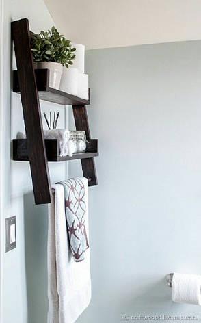 Полку дерев'яна Crist темно-коричнева, фото 2