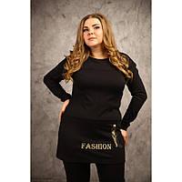 Женская  туника Фешн с вышивкой размер 48-70