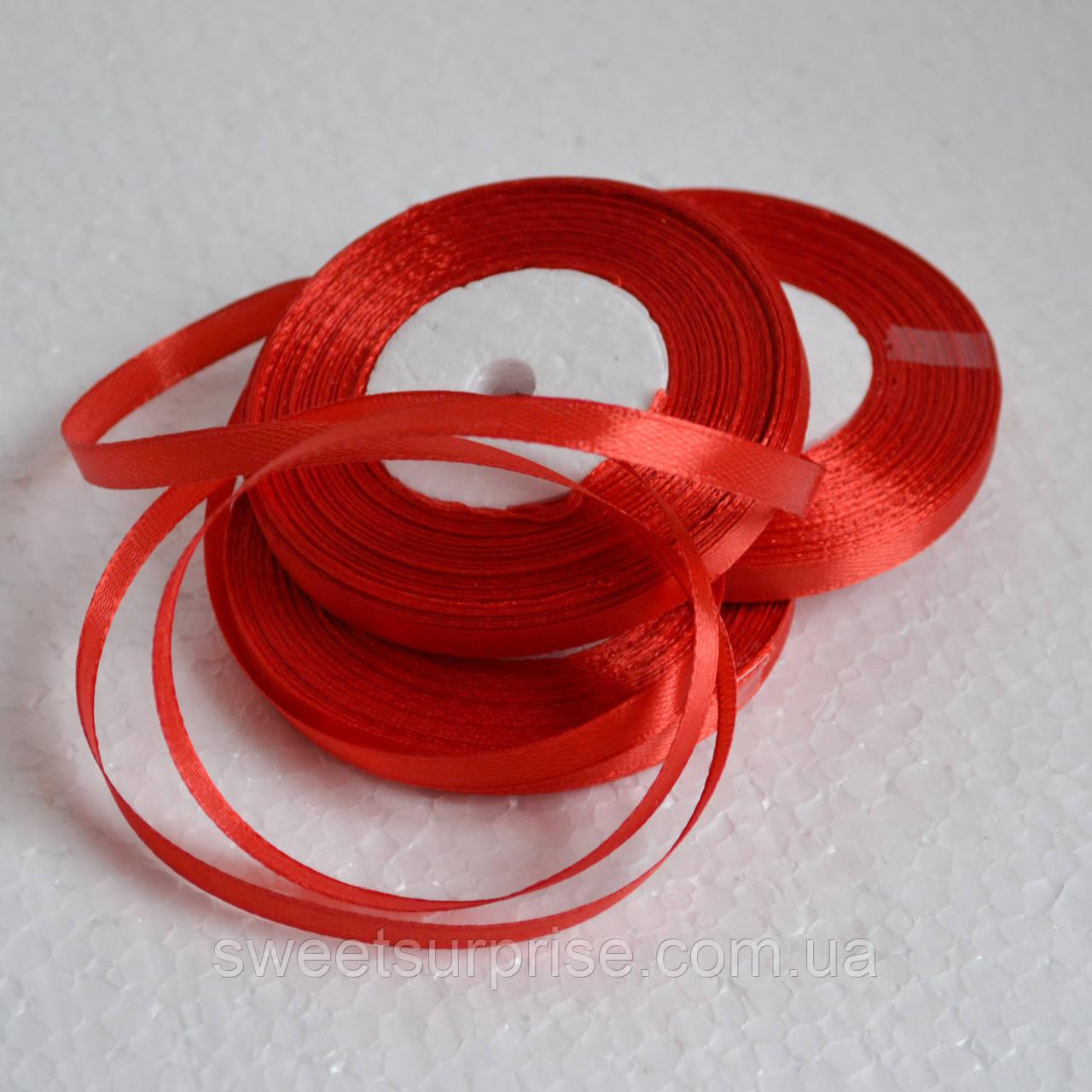 Лента атласная 7 мм (красный)
