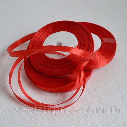Лента атласная 7 мм (красный), фото 2