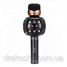 Беспроводной микрофон караоке блютуз WSTER WS-2911 Bluetooth динамик USB Камуфляж