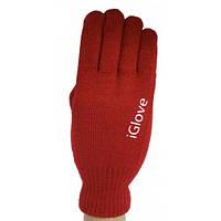 Перчатки для сенсорных экранов iGlove бордовые