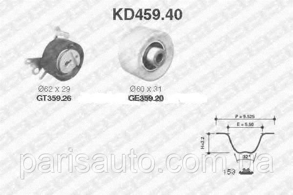 Комплект ремня ГРМ NTN-SNR KD459.40 EW7-EW12 083189, 083188, 0831K3