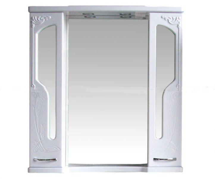 Шкаф зеркальный Атолл Барселона 95 (белый глянец), 920х195х965 мм