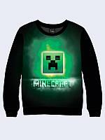 Світшот дитячий 3D Minecraft/ Свитшот Майнкрафт лого, фото 1