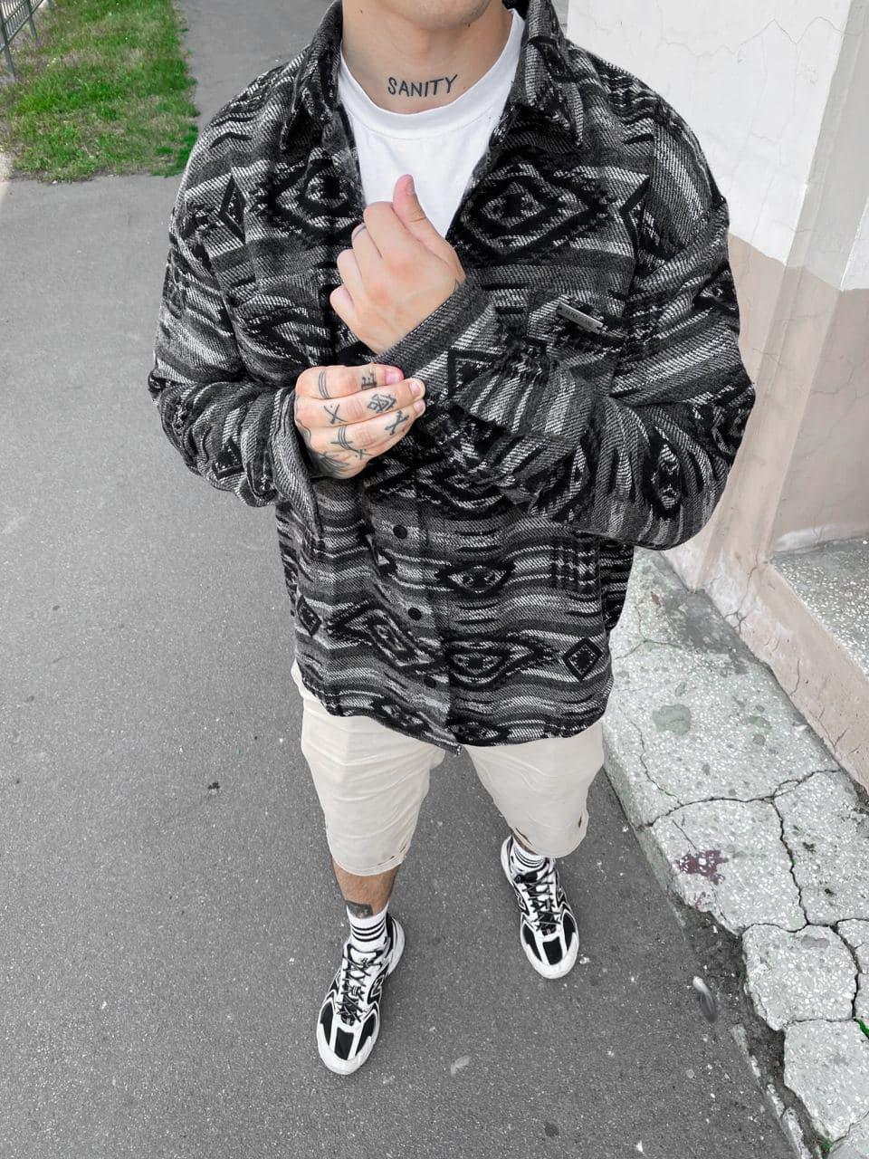 😜Рубашка - мужская теплая рубашка байковая серая / чоловіча рубашка байкова сіра оверсайз